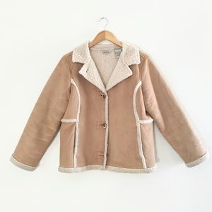 L.L. Bean Tan Sherpa Jacket